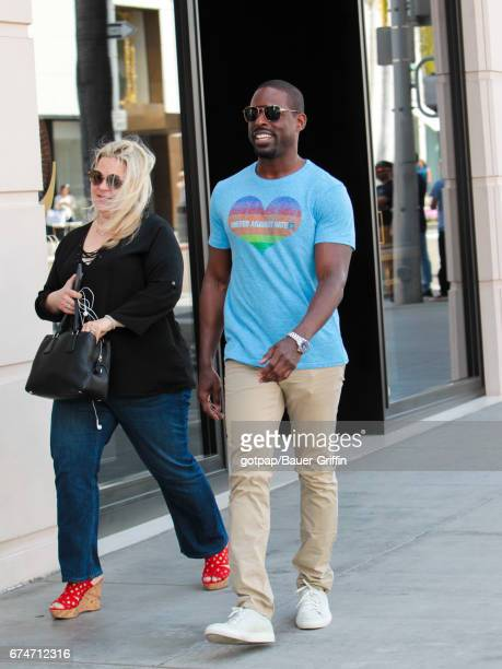 Sterling K Brown is seen on April 28 2017 in Los Angeles California