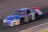 Sterling Marlin drives his Ganassi Racing Dodge Intrepidduring practice for the NASCAR Winston Cup Series Protection One 400 at Kansas Speedway in...