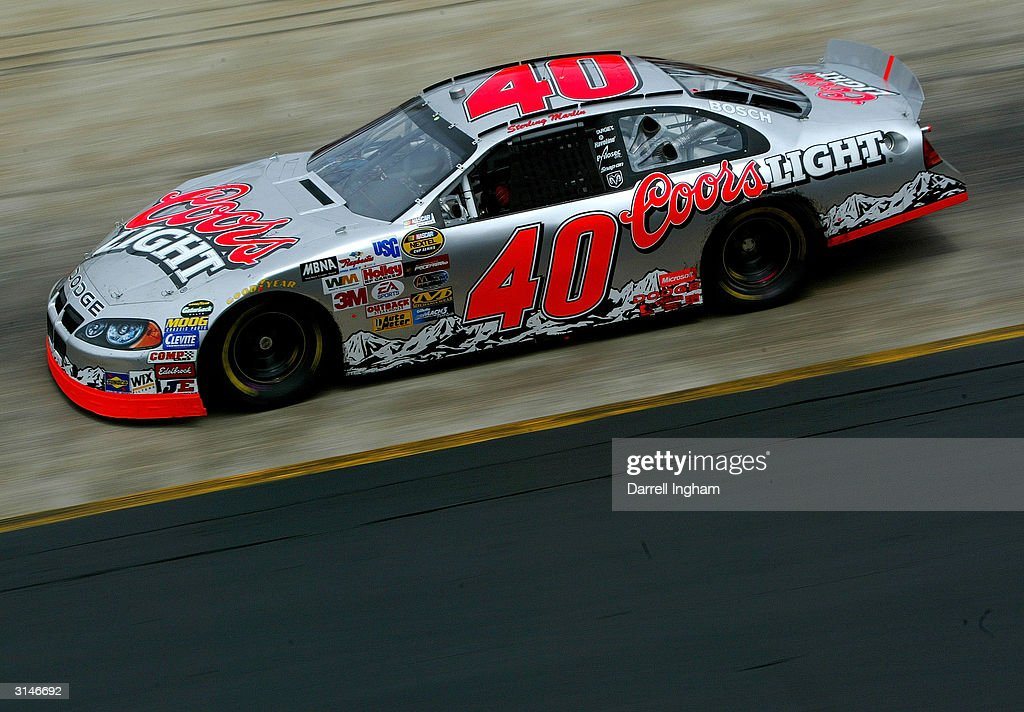 Sterling Marlin driving the Chip Ganassi Racing Coors Light Dodge during practice for the NASCAR Nextel Cup Series Food City 500 on March 27 2004 at...