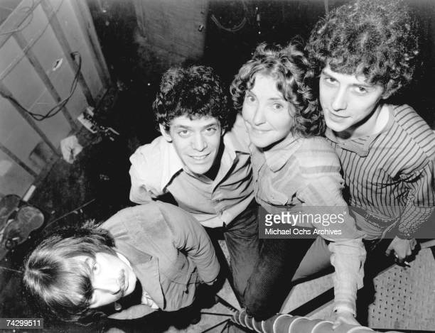 Sterling Morrison Lou Reed Maureen 'Moe' Tucker and Doug Yule of the rock and roll band 'Velvet Underground' pose for a portrait in 1970