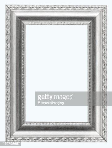 スターリングシルバーの写真フレームます。白、クリッピングパス