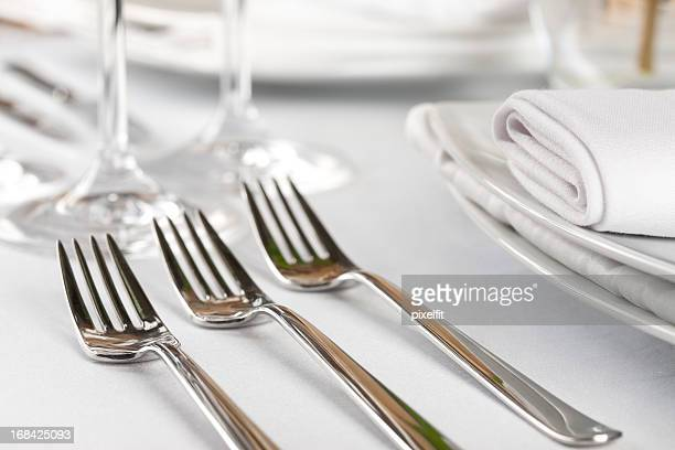 A sterling three course fork setting