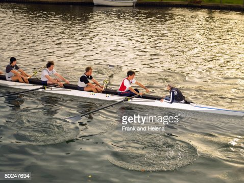 Stern four of eight. : Stock Photo