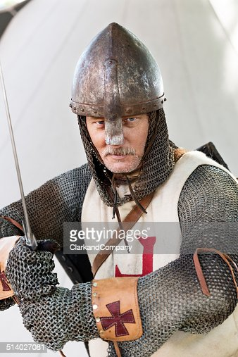 Stern Looking Knight In A Fighting Pose