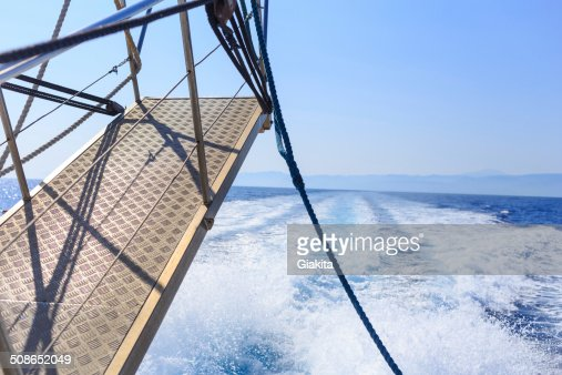 Stern of a ship : Stock Photo