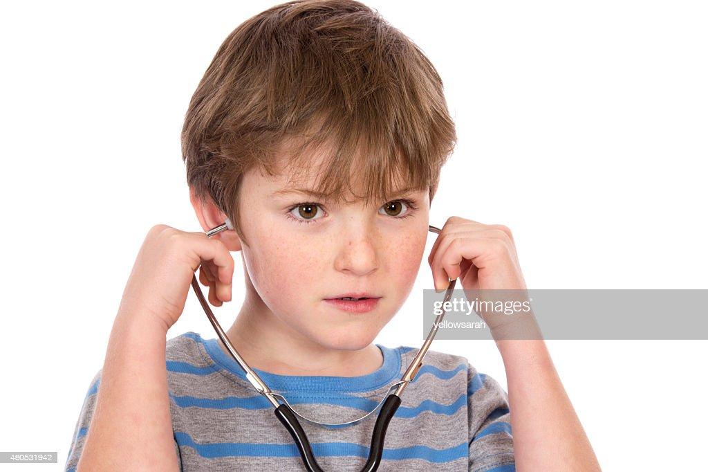 Stethoskop Kind : Stock-Foto