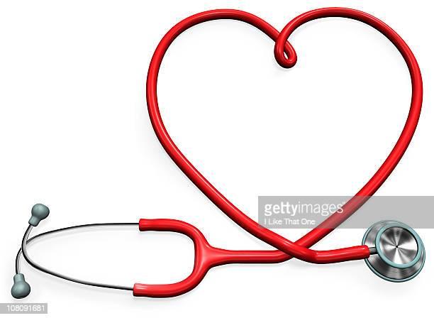 Stethoscope forming a heart shape