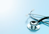 Healthcare Stethoscope Blue Background Medical