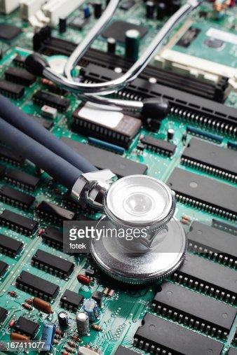 聴診器が回路基板 : ストックフォト