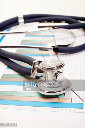 Stethoscope - Research of balance : Stock Photo