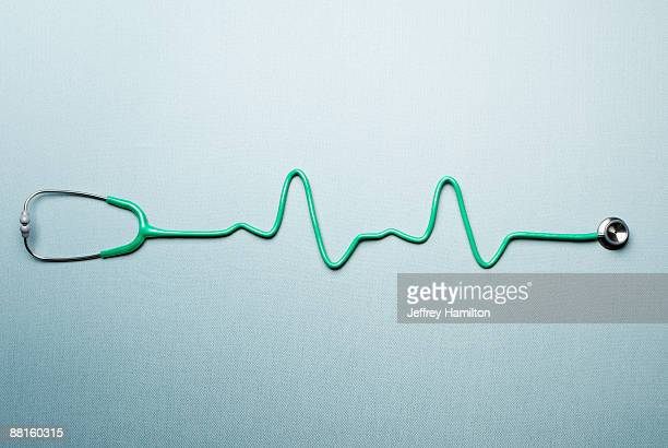 Stethoscope shaped as EKG readout