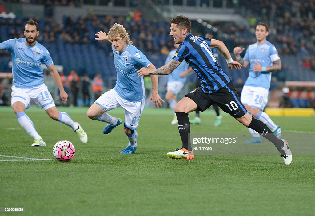 Stevan Jovetic during the Italian Serie A football match between S.S. Lazio and F.C. Inter at the Olympic Stadium in Rome, on may 01, 2016.