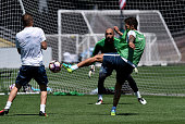 Stevan Jovetic in action during the FC Internazionale training session at University of Portland on July 20 2016 in Portland Oregon
