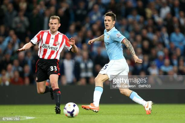 Stevan Jovetic Manchester City and Lee Cattermole Sunderland