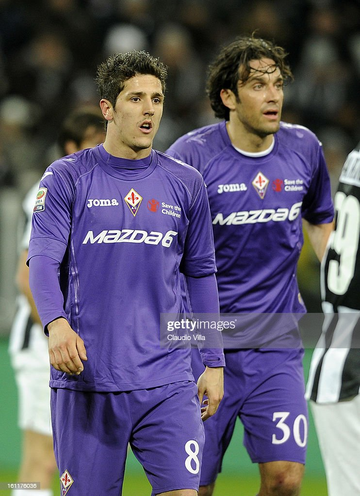 Stevan Jovetic of ACF Fiorentina #8 during the Serie A match between Juventus FC and ACF Fiorentina at Juventus Arena on February 9, 2013 in Turin, Italy.