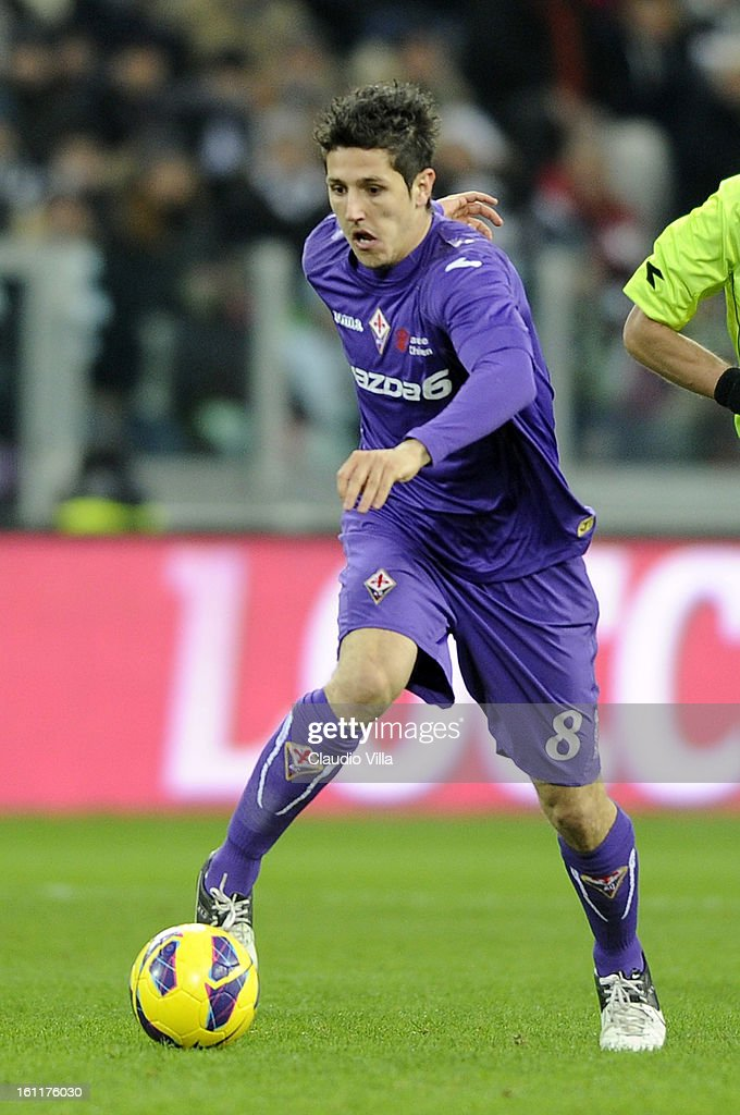 Stevan Jovetic of ACF Fiorentina in action during the Serie A match between Juventus FC and ACF Fiorentina at Juventus Arena on February 9, 2013 in Turin, Italy.