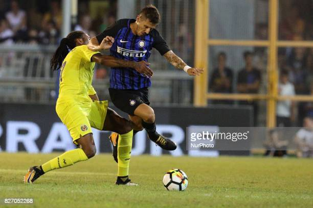 Stevan Jovetic of FC Internazionale compete for the ball during the PreSeason 2017/2018 International Friendly FC Internazionale v Villareal CF at...