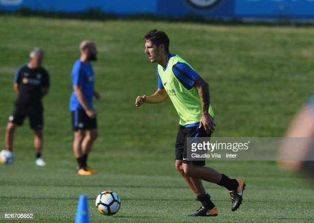 Stevan Jovetic of FC Internazionale in action during a training session at Suning Training Center at Appiano Gentile on August 2 2017 in Como Italy
