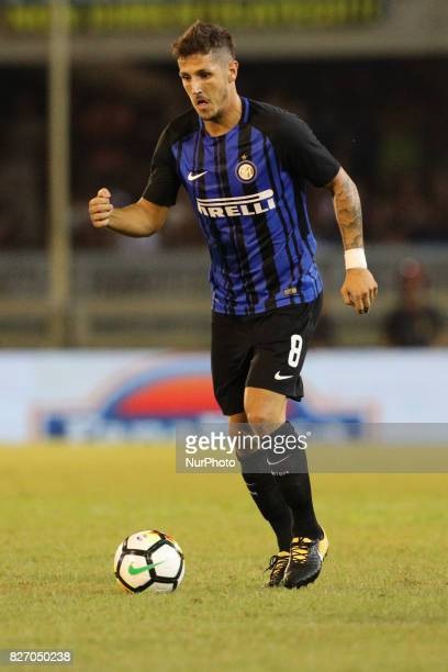 Stevan Jovetic of FC Internazionale in action during the PreSeason 2017/2018 International Friendly FC Internazionale v Villareal CF at Riviera delle...