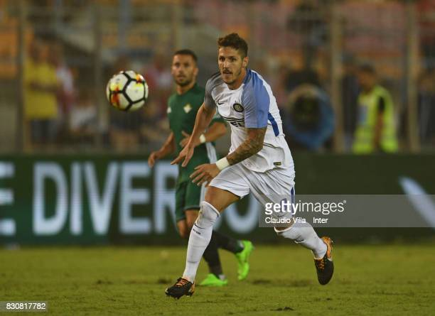 Stevan Jovetic of FC Internazionale in action during the PreSeason Friendly match between FC Internazionale and Real Betis at Stadio Via del Mare on...