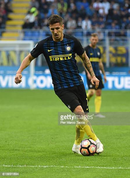 Stevan Jovetic of FC Internazionale in action during the Serie A match between FC Internazionale and Cagliari Calcio at Stadio Giuseppe Meazza on...