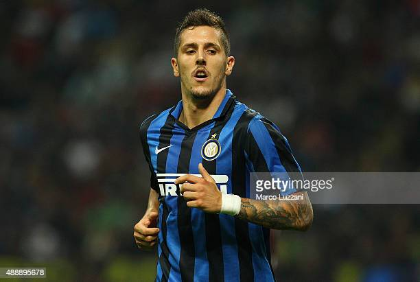 Stevan Jovetic of FC Internazionale Milano looks on during the Serie A match between FC Internazionale Milano and AC Milan at Stadio Giuseppe Meazza...