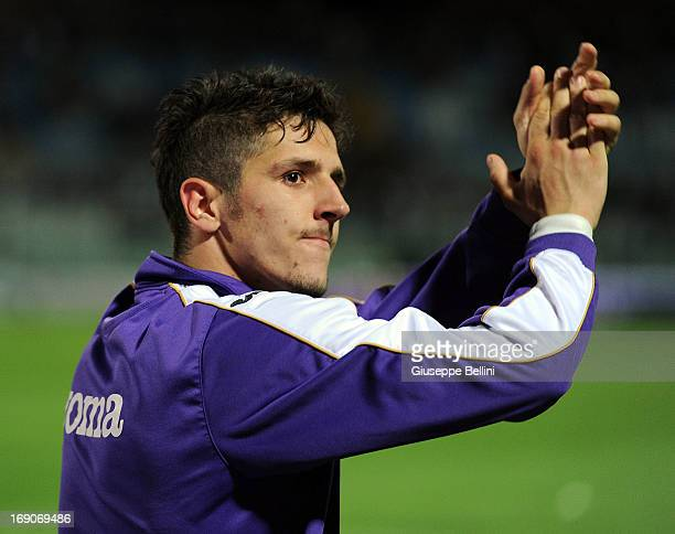 Stevan Jovetic of Fiorentina after the Serie A match between Pescara and ACF Fiorentina at Adriatico Stadium on May 19 2013 in Pescara Italy