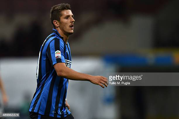 Stevan Jovetic of Internazionale Milano in action during the Serie A match between FC Internazionale Milano and Hellas Verona FC at Stadio Giuseppe...
