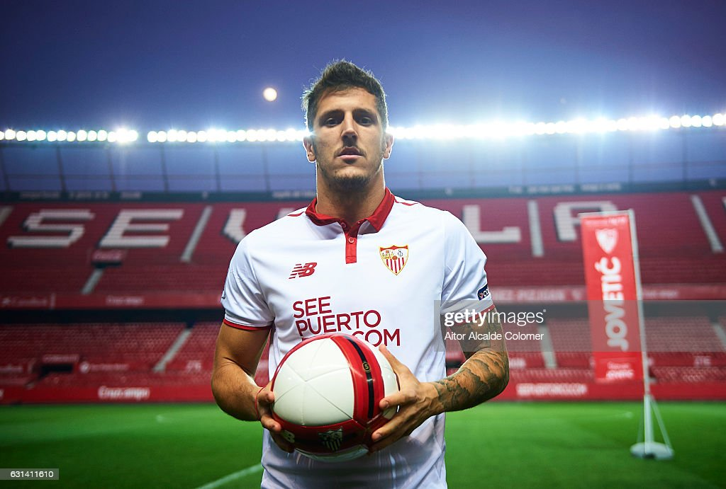 Sevilla FC unveil new signing Stevan Jovetic : News Photo