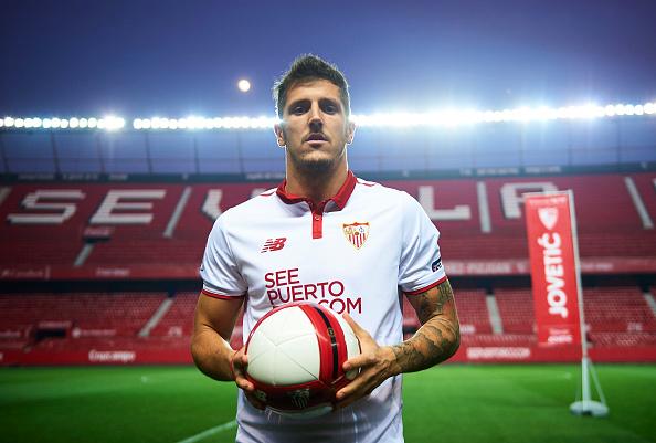 Sevilla FC unveil new signing Stevan Jovetic : News Photo