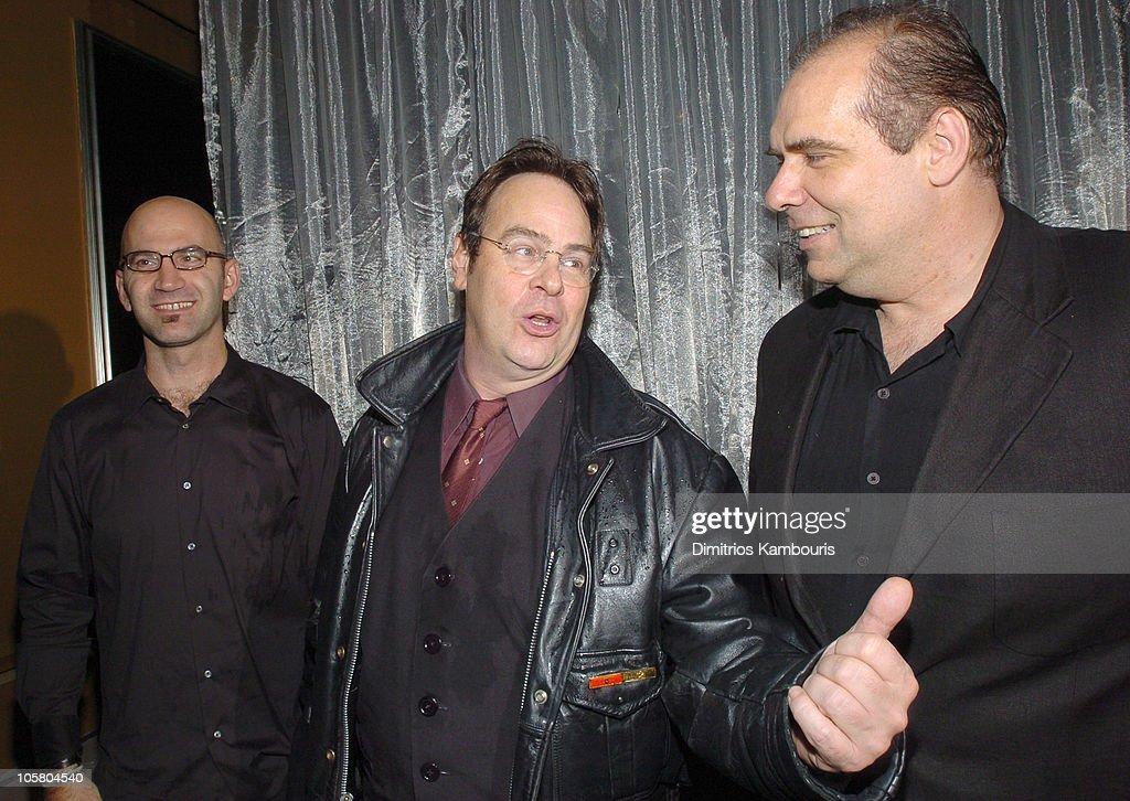 Steve Adelmon, Dan Aykroyd and John Lyons during Spider Club New York Grand Opening at Avalon in New York City, New York, United States.