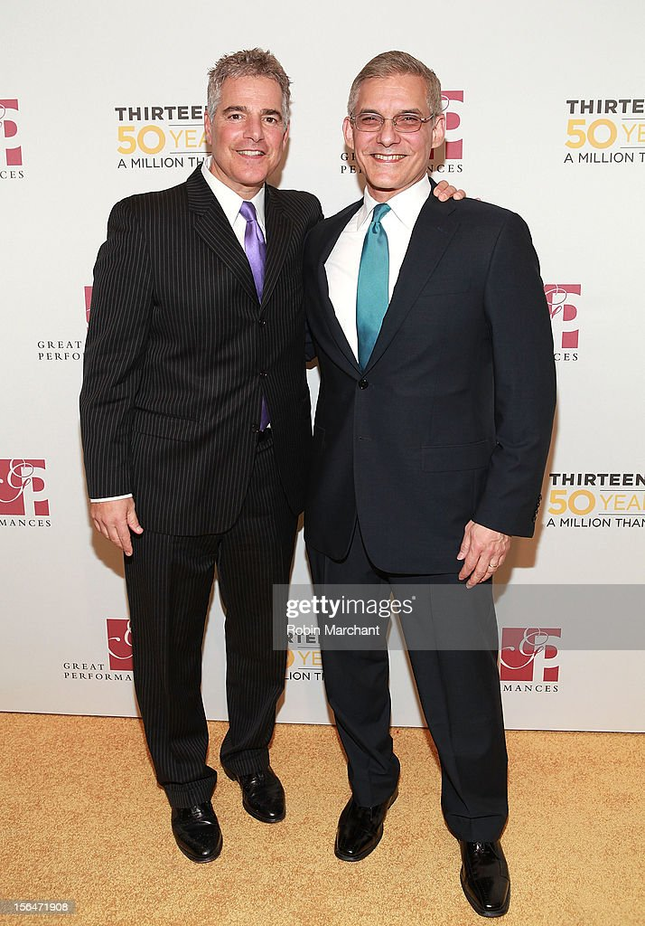 Steve Adubato (L) and Rafael Pi Roma attend the THIRTEEN 50th Anniversary Gala Salute at David Koch Theatre at Lincoln Center on November 15, 2012 in New York City.