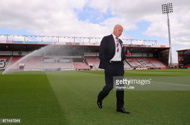 Steve Agnew caretaker manager of Middlesbrough inspects the pitch prior to the Premier League match between AFC Bournemouth and Middlesbrough at the...
