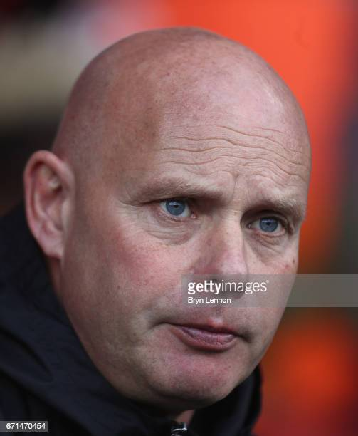 Steve Agnew caretaker manager of Middlesbrough looks on during the Premier League match between AFC Bournemouth and Middlesbrough at the Vitality...