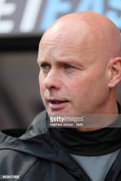 Steve Agnew the head coach / manager of Middlesbrough during the Premier League match between Swansea City and Middlesbrough at Liberty Stadium on...