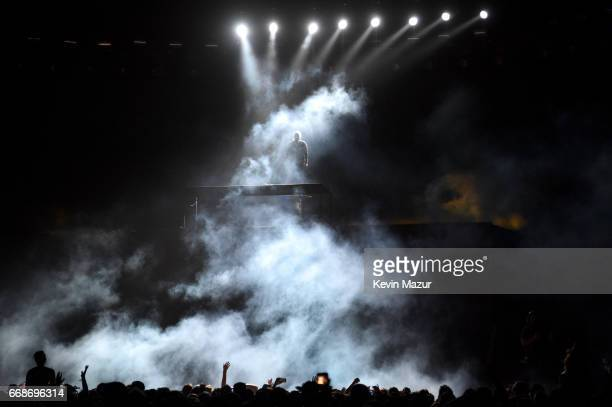 Steve Angello performs on the Sahara Tent during day 1 of the Coachella Valley Music And Arts Festival at the Empire Polo Club on April 14 2017 in...