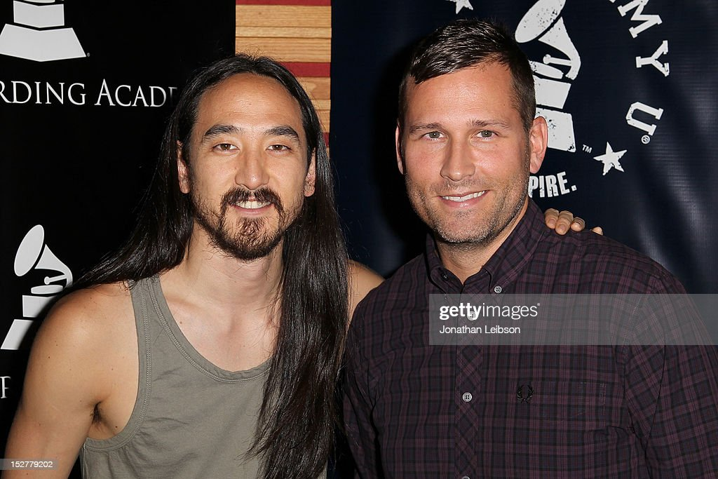 <a gi-track='captionPersonalityLinkClicked' href=/galleries/search?phrase=Steve+Aoki&family=editorial&specificpeople=732001 ng-click='$event.stopPropagation()'>Steve Aoki</a> and <a gi-track='captionPersonalityLinkClicked' href=/galleries/search?phrase=Kaskade+-+DJ&family=editorial&specificpeople=5359439 ng-click='$event.stopPropagation()'>Kaskade</a> attend the GRAMMY U Los Angeles Presents Up Close And Personal With <a gi-track='captionPersonalityLinkClicked' href=/galleries/search?phrase=Steve+Aoki&family=editorial&specificpeople=732001 ng-click='$event.stopPropagation()'>Steve Aoki</a> And <a gi-track='captionPersonalityLinkClicked' href=/galleries/search?phrase=Kaskade+-+DJ&family=editorial&specificpeople=5359439 ng-click='$event.stopPropagation()'>Kaskade</a> at Los Angeles Film School on September 25, 2012 in Los Angeles, California.