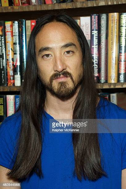 Steve Aoki attends his book signing for 'Eat Sleep Cake Repeat' at The Last Bookstore on July 30 2015 in Los Angeles California