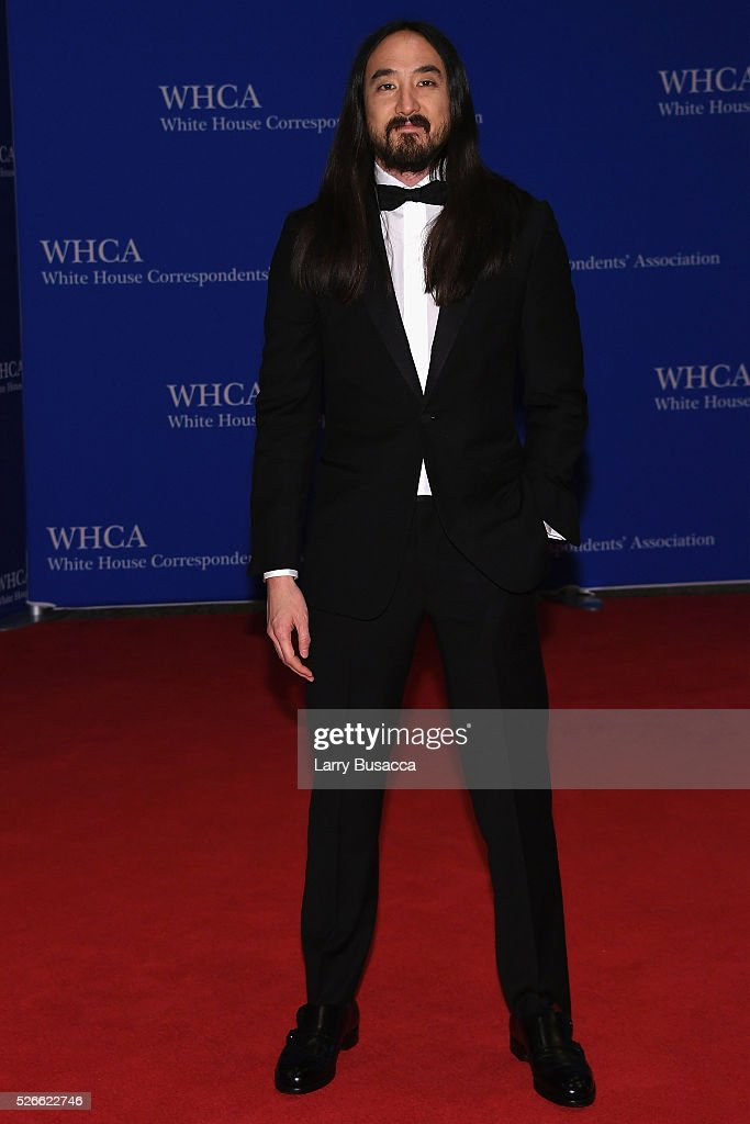 DJ <a gi-track='captionPersonalityLinkClicked' href=/galleries/search?phrase=Steve+Aoki&family=editorial&specificpeople=732001 ng-click='$event.stopPropagation()'>Steve Aoki</a> attends the 102nd White House Correspondents' Association Dinner on April 30, 2016 in Washington, DC.