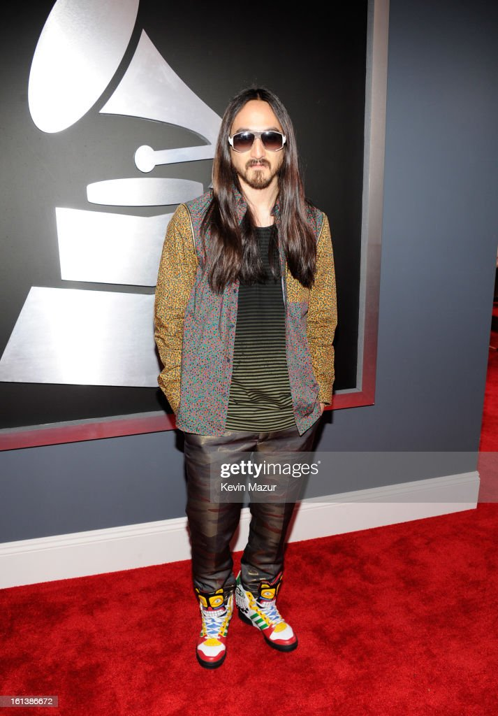 Steve Aoki attends the 55th Annual GRAMMY Awards at STAPLES Center on February 10, 2013 in Los Angeles, California.