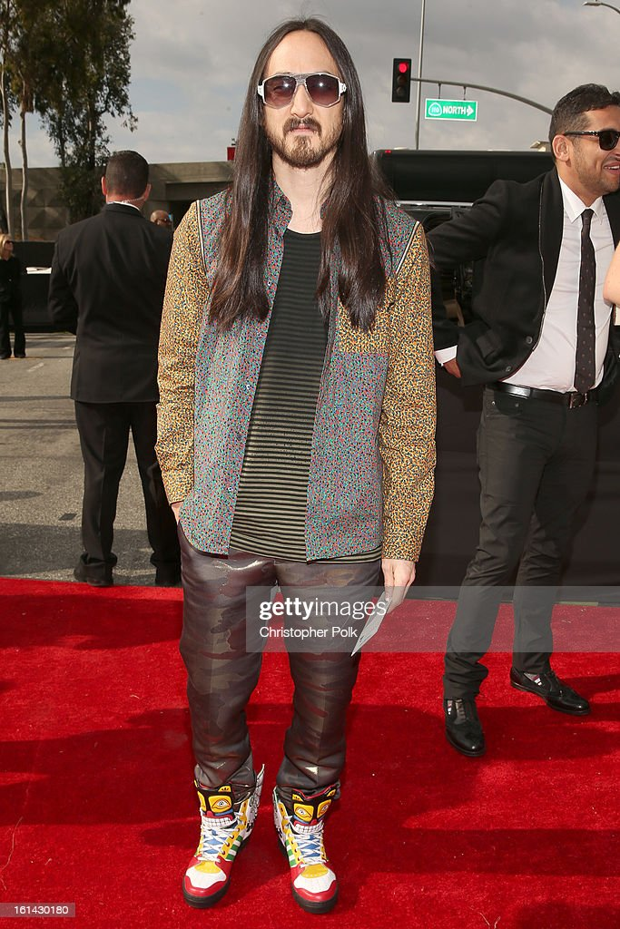 DJ Steve Aoki attends the 55th Annual GRAMMY Awards at STAPLES Center on February 10, 2013 in Los Angeles, California.