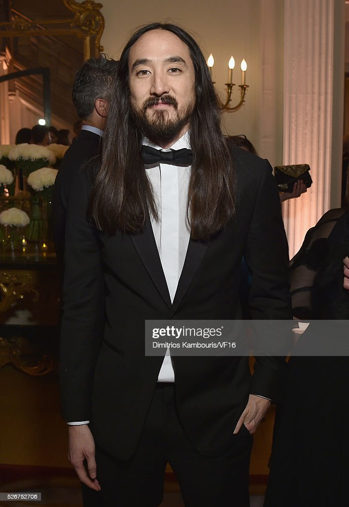 Steve Aoki attends the Bloomberg & Vanity Fair cocktail reception following the 2015 WHCA Dinner at the residence of the French Ambassador on April 30, 2016 in Washington, DC.