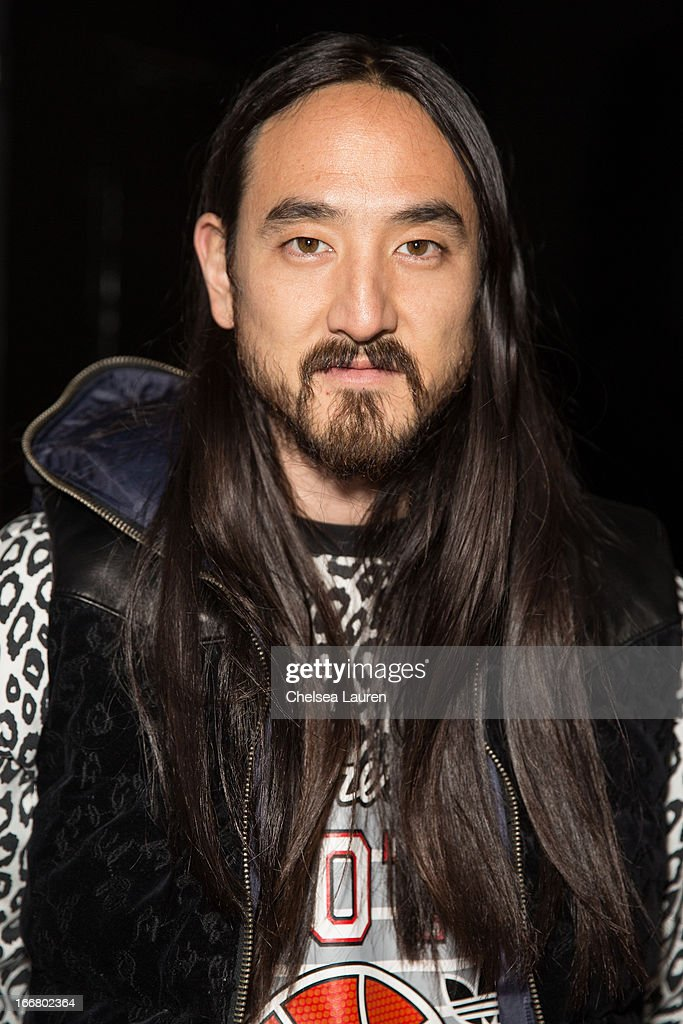 DJ <a gi-track='captionPersonalityLinkClicked' href=/galleries/search?phrase=Steve+Aoki&family=editorial&specificpeople=732001 ng-click='$event.stopPropagation()'>Steve Aoki</a> attends the Dirtyphonics private press meet & greet and listening of new album 'Irreverence' at Dim Mak Studios on April 16, 2013 in Hollywood, California.