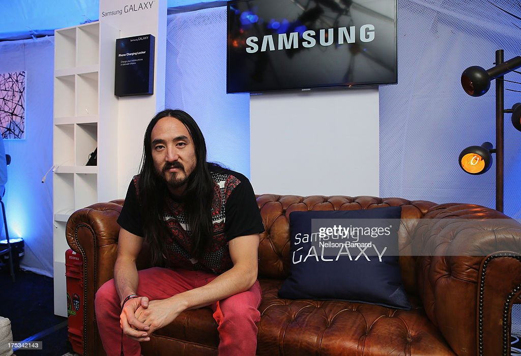 Steve Aoki attends the Samsung Galaxy Artist Lounge at Lollapalooza on August 2, 2013 in Chicago City.