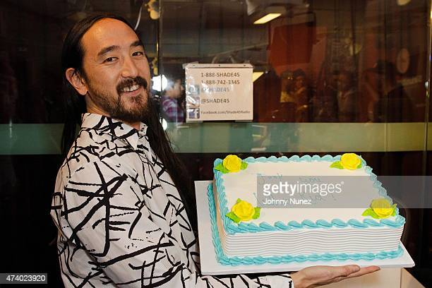 Steve Aoki invades 'The Whoolywood Shuffle' at SiriusXM Studios on May 19 in New York City