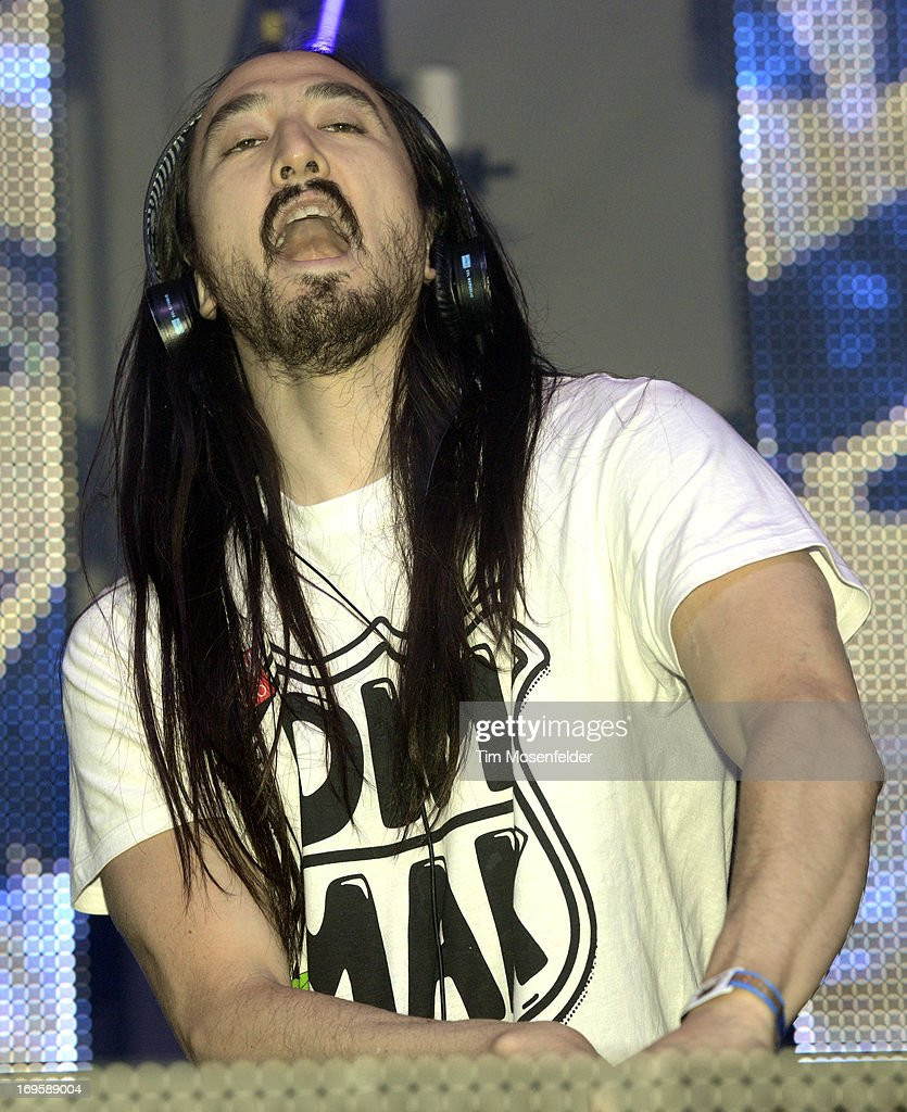 Steve Aoki performs as part of Day 4 of the Sasquatch! Music Festival at the Gorge Amphitheatre on May 27, 2013 in George, Washington.