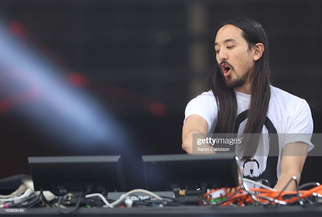 Steve Aoki performs at Ultra Musci Festival - Weekend 1 at Bayfront Park Amphitheater on March 17, 2013 in Miami, Florida.