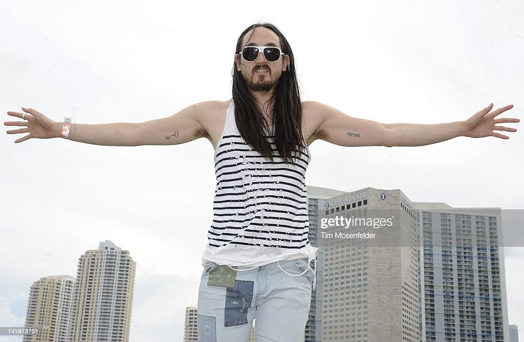 Steve Aoki poses at Day Three of Ultra Music Festival 14 at Bayfront Park on March 25, 2012 in Miami, Florida.