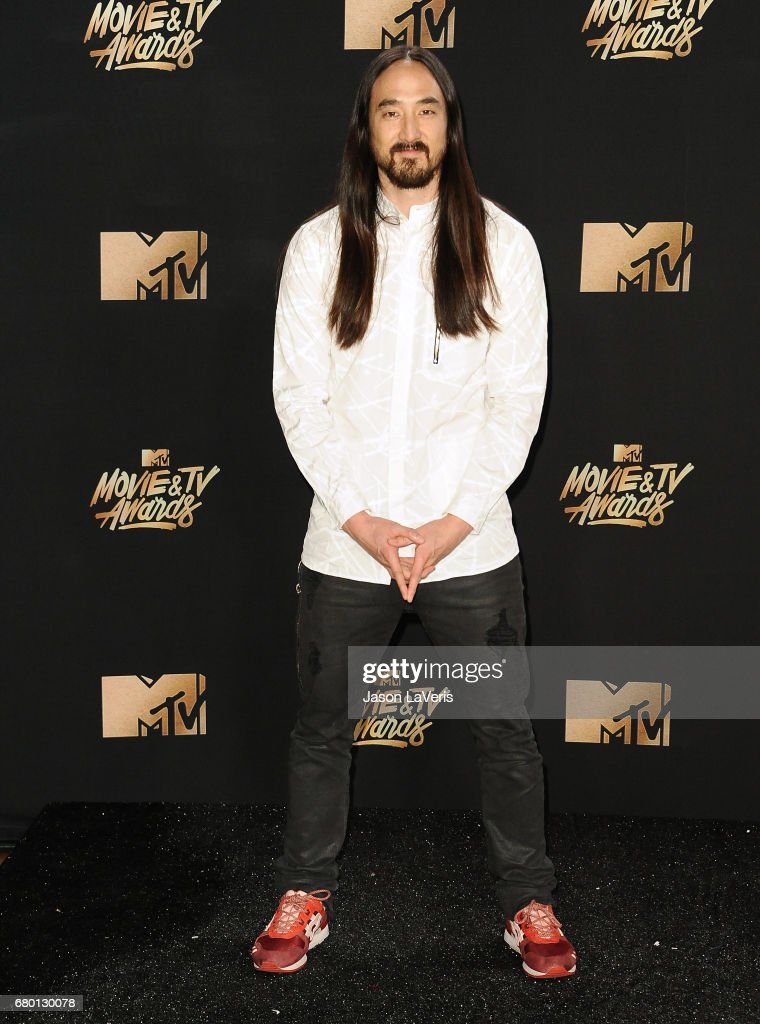 Steve Aoki poses in the press room at the 2017 MTV Movie and TV Awards at The Shrine Auditorium on May 7, 2017 in Los Angeles, California.
