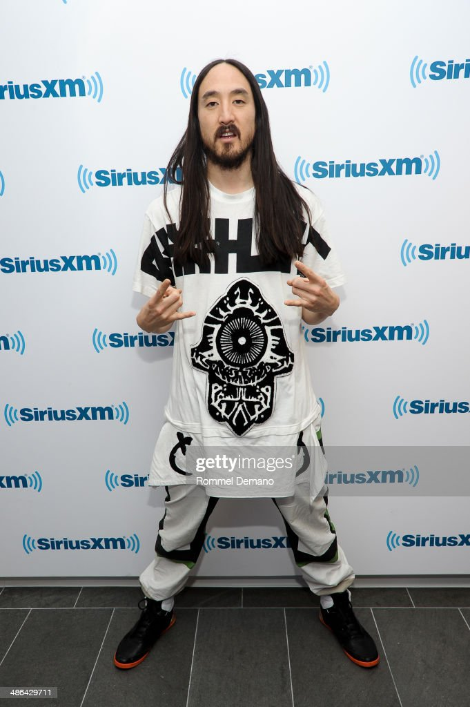 Steve Aoki visits at SiriusXM Studios on April 24, 2014 in New York City.